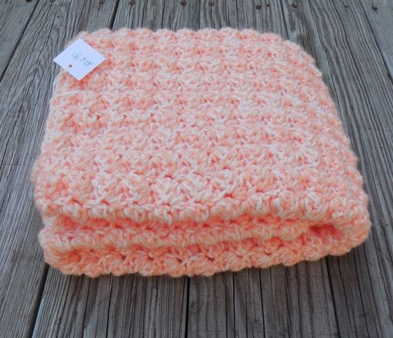 Crochet Double Strand Baby Blanket Pattern : Crochet Baby Blanket Creamsicle Double Strand Crochet