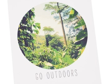 "Go Outdoors 8""x10"" Archival Print - Hiking in Hawaii"