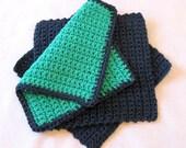 Crocheted Dish Cloth, Wash Cloth, Face Cloth, Baby Wash Cloth, Scrubby, Primitive, Farm House