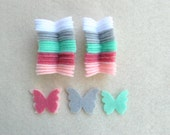 50 Die Cut Felt Butterflies, 010, Ready to Ship