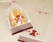 20 Brown Teddy Bear Cellophane Bags (4.3 x 9in)