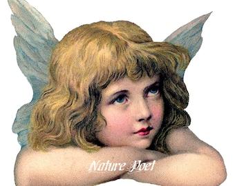 Christmas Angel PNG Image Reproduction Downloadable, Printable, Digital Art Image Instant Download