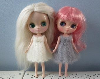 Fluffy Mohair Middie Blythe Crochet Dress