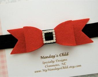 Christmas Baby Headband, Christmas Headband, Christmas Bow, Santa Bow, Santa Headband, Baby Headband, Toddler Headband, Toddler Bow Baby Bow