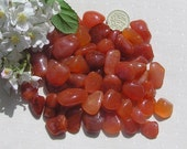 10 Carnelian Crystal Tumblestones, Crystal Collection, Orange Crystals, Chakra Crystals, Meditation Stone, Cancer, Aries, Leo, Virgo, Agate