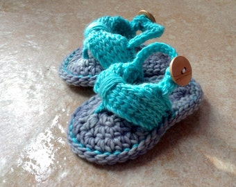 Crochet Baby flip flops, Baby Flip Flops, Crochet Baby Shoes, baby sandals, Sizes 0-6 Months and 6-12 Months