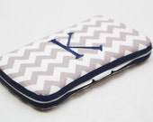 Personalized Wipes Case - Grey Chevron
