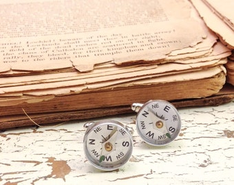 for the directionally impaired cuff links | compass cufflinks | outdoors | gift for guys