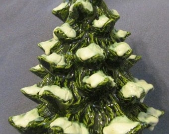Ceramic Aquarium Decoration ~ Medium Tree with heavy Snow