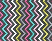 Mini Chic Chevron in Pink, Michael Miller Fabric, 1 Yard Total, Additional Yardage Available
