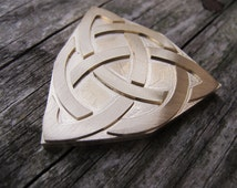 Celtic Trinity Knot Brass leather craft tool Embossing Die Triquetra