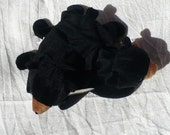 50 Percent Off, Was 7 Dollars, Big Sale Day, Black Bear Plushie, Stuffed Animal, Children's Toy, Bear Toy, Woodland Nursery, Ty Beanie Baby