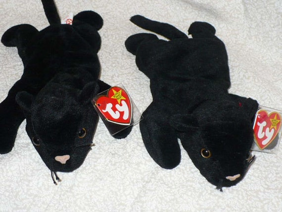 Black Panther Stuffed Animal Ty Beanie Babie Velvet the Cat 1995 Vintage Beanie Babie