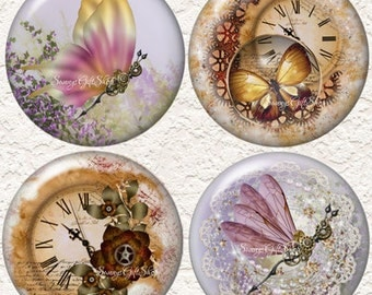"""Steampunk Coaster Set of  4 - 3.5"""" in Size  Buy 3 Sets Get 1 Full Set Free  002C"""