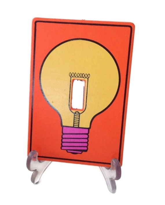 Mid Century 1970 S Pop Art Iconic Switchplate Cover