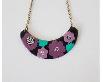 Garden flowers necklace