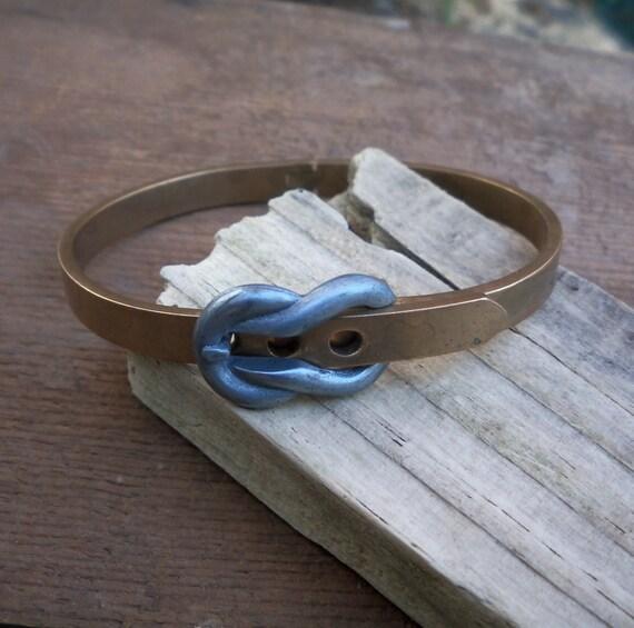 vintage brass bangle / vintage belt bracelet / buckle bracelet / BELT BUCKLE BANGLE