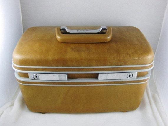 Samsonite 1980's Train/Travel/Craft Case/Original Insert Nice Chocolate Brown