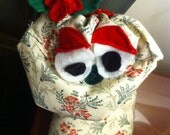 HOLIDAY: SPECIALTY Holly the FESTIVE Toastie Monster-All Natural Heating Pads; Made With Recyclable Materials, Organic Lavendar and Rice