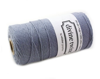 SOLID Bakers Twine 240 yard spool - STEEL GREY twine - string for crafting, gift wrapping, packaging, invitations