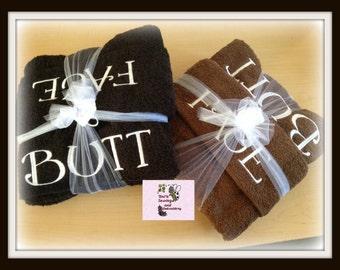 Fun gift FACE BUTT personalized Bath Towel