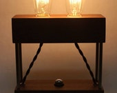 The Menlo Park Lamp - Dual Edison Bulb in Walnut. Modern Table or Desk Lamp.