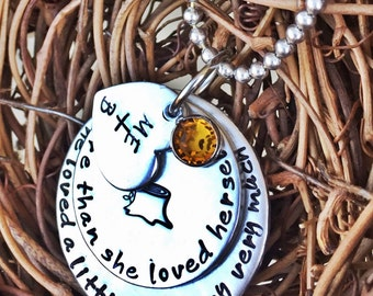 Personalized Hand Stamped Tree Necklace