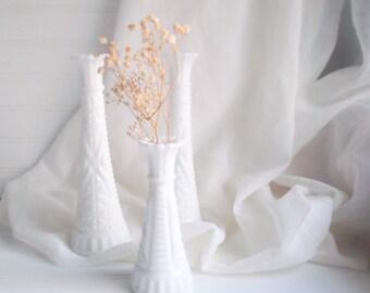 heirloom vase trio milk glass vases, farmhouse chic decor country living