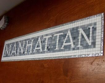 NYC Subway Mosaic Tile Install for Bathroom  /  Kitchen  /  Backsplash - Mosaic Install - Manhattan