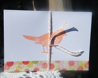50% off this item, enter LOVE99 at checkout, Spring Bird Note Cards, Mini Card Set, Mini Note Card, Cards, Thank You Cards, Set of 4