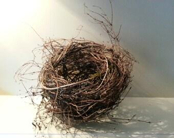handmade twig bird nest