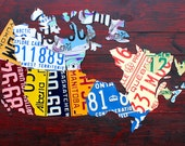 """License Plate Art Prints - 16.5"""" x 11"""" - 5 Designs to Choose From"""