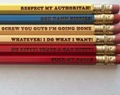 South Park inspired Eric Cartman quotes 6 engraved pencils
