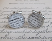 Awesome Dad Cuff Links for Wedding, Christmas, Birthday, New Dad by Kristin Victoria Designs