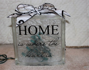 Home DIY decal for glass block
