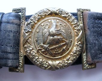 Spanish American War Era Naval Officer Belt with Buckle