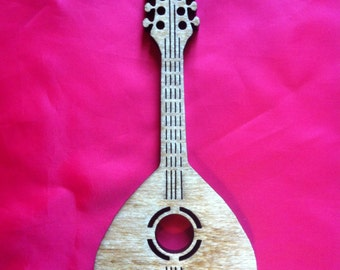 Wood Mandolin Ornament