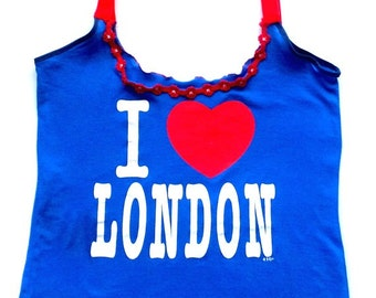 OOK Upcycled I love London Cami
