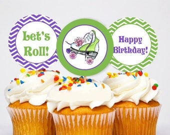 Roller Skate Cupcake toppers ~ Printable 2 inch circles