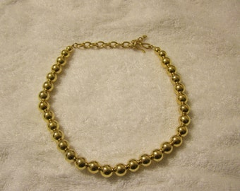 Gold LC Graduating Ball Necklace