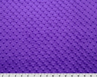 Purple Cuddle Dimple/ Dot Minky (Minkee), Cuddle Dimple by Shannon Fabrics