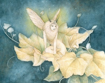 Moth Faery 8 x 10 Print