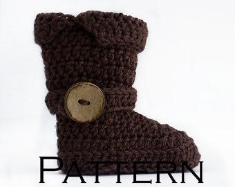Baby Riding Boot Crochet Pattern - PDF