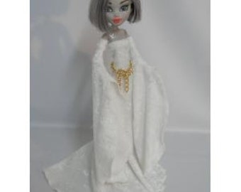 Off white Medieval Gown Designed for Your Monster High Doll-SALE