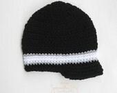 Newsboy, Crochet Newsboy hat, Perfect Stripe Newsboy, crochet brim hat, newsboy brim hat, crochet stripe hat, Stripe newsboy, stripe brim