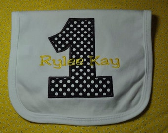 Birthday Bib ...Any Color Can be Made
