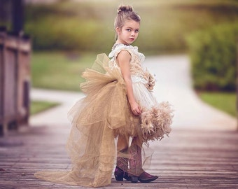 Fairy tale Autumn... An Exquisite Faux Fur Tutu Dress