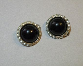 Vintage Jet Lucite Earrings