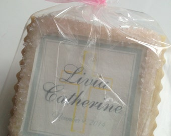 custom cookie favors baptism confirmation