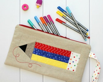 Colour My World Pencil Case PDF Pattern - Immediate Download